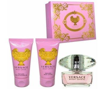 Versace Giftset Bright Crystal EDT 50ml + BODY LOTION 50ml + BATH&SHOWER GEL 50ml Toilette