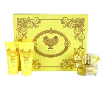 Versace Giftset Yellow Diamond EDT 50ml + BODY LOTION 50ml + SHOWER GEL 50ml Toilette