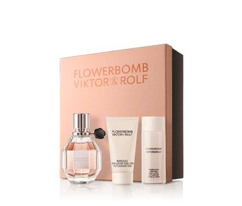 Viktor & Rolf Flowerbomb Gift Set 30 ml, Flowerbomb 50 ml and body cream Flowerbomb 40 ml
