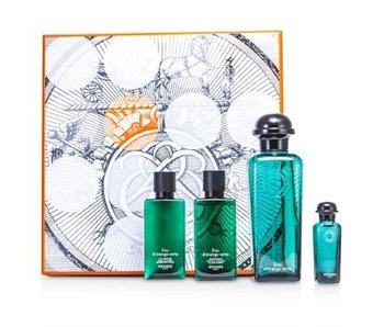 Hermes Eau d'Orange Verte Gift Set 100 ml, Eau d'Orange Verte 7,5 ml, Eau d'Orange Verte 40 ml a Eau d'Orange Shower Gel