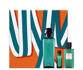 Hermes Eau D´Orange Verte Gift Set 100 ml, on Body and Hair 40 ml and 7,5 ml Shower Gel