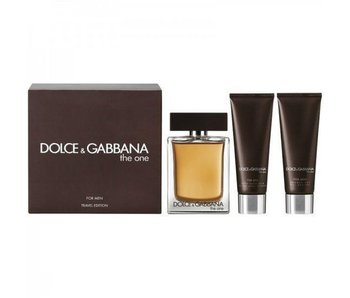 Dolce & Gabbana The One for Men Gift Set 100 ml Balm The One for Men 50 ml and The One for Men 50 ml