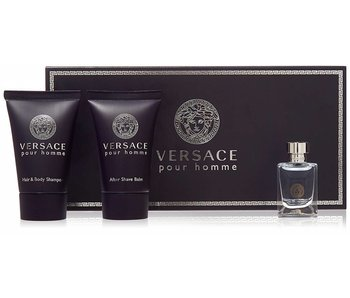 Versace Versace Pour Homme 5 ml minikits, aftershave balm 25 ml and 25 ml shower gel