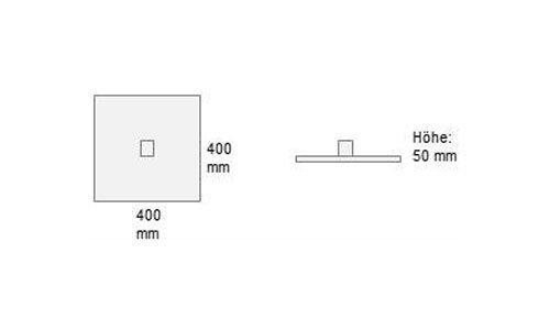 Set B Stellfuß 40 x 40 cm - Einzelbestellung