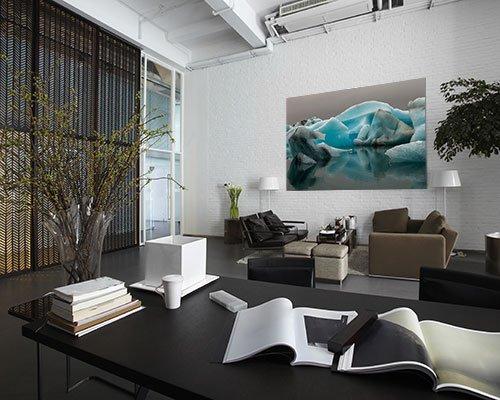 akustikbilder mit motiv brig bleibt das blau 2 von tobias kegler. Black Bedroom Furniture Sets. Home Design Ideas