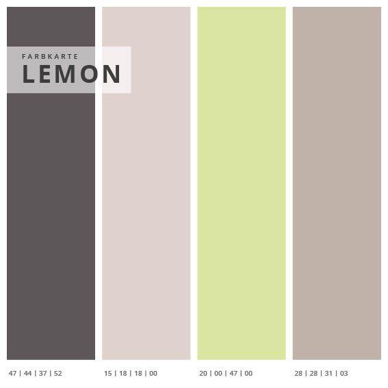 Wandabsorber 3er Set Lemon, Format 1:1