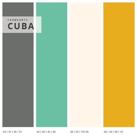 Wandabsorber 3er Set Cuba, Format 2:1