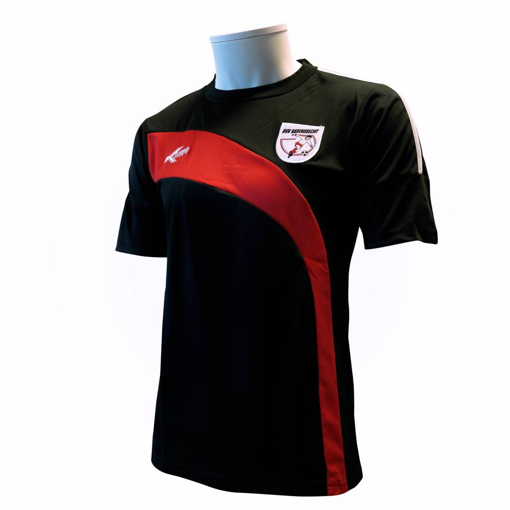Training shirt Barendrecht, Zwart/Rood
