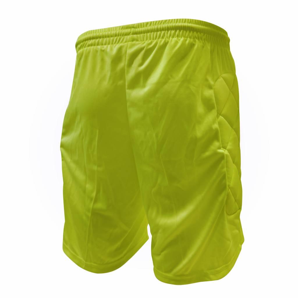 Keeper short Neon met padding, Geel