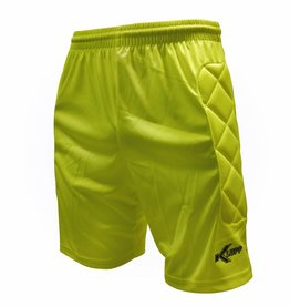 Keeper short Neon met padding, Geel