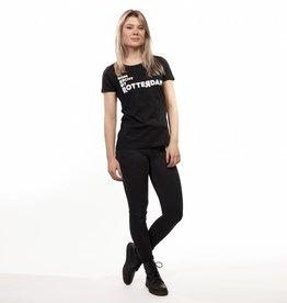 RUR T-Shirt Dames ZWART, Recht Uit Rotterdam