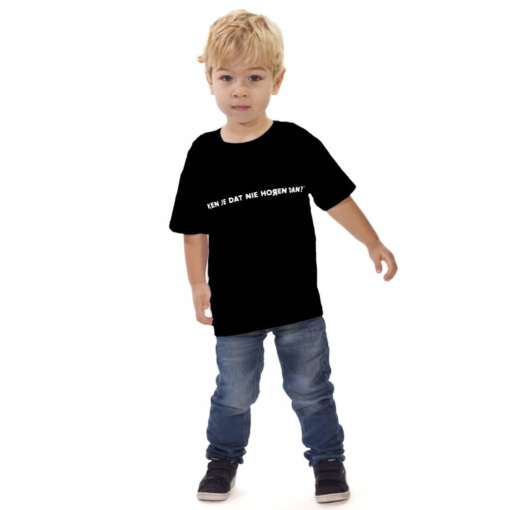 RUR T-Shirt Kids ZWART, Ken je dat nie horen dan?