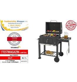Tepro Toronto Afsluitbare Houtskool Barbecue Grillwagen RVS/Zwart