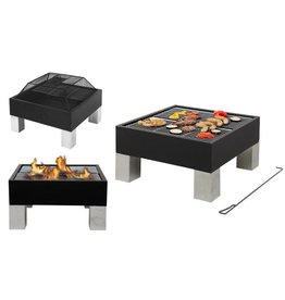 Tepro Laredo Inferno with Grill Function 61x61x52cm black / stainless steel