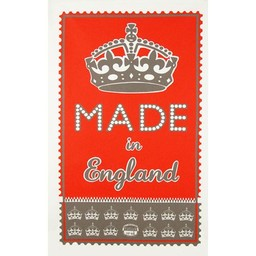 Marry Fellows - Pintuck Tea towel Made in England – red