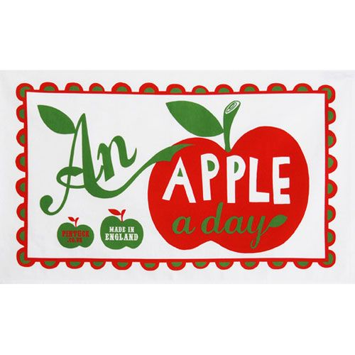 Mary Fellows - Pintuck Pintuck Tea towel An apple a day