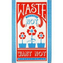 Marry Fellows - Pintuck Tea towel Waste not want not