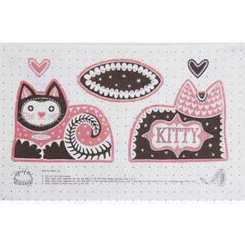Marry Fellows - Pintuck Tea towel Pretty Cat