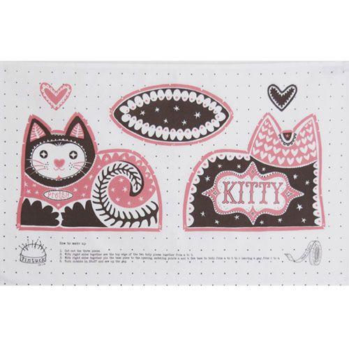 Mary Fellows - Pintuck Pintuck Tea towel Pretty Cat