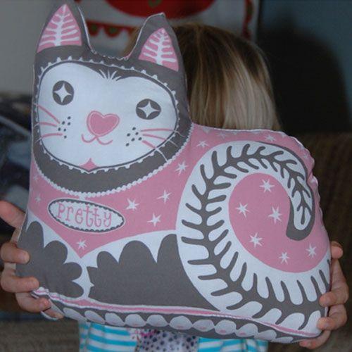 Mary Fellows - Pintuck Pintuck Theedoek Pretty Cat