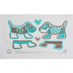 Marry Fellows - Pintuck Tea towel Puppy love