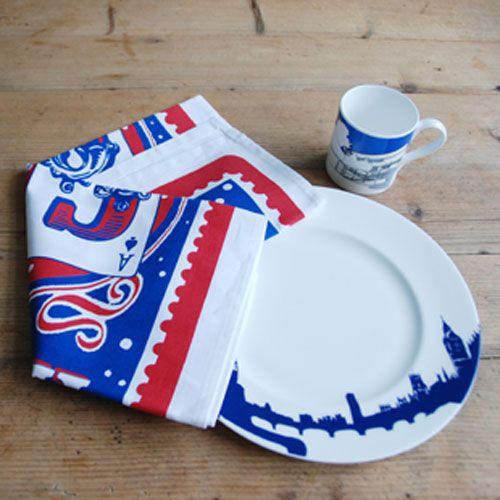 Mary Fellows - Pintuck Pintuck Tea towel Happy go lucky
