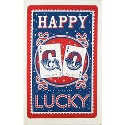Mary Fellows - Pintuck Pintuck Tea towel Happy go lucky
