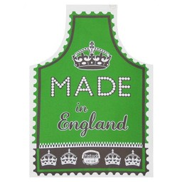 Marry Fellows - Pintuck Apron Made in England - green