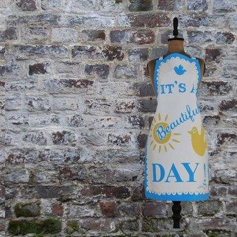Mary Fellows - Pintuck Pintuck Keukenschort 'It's a beautiful day