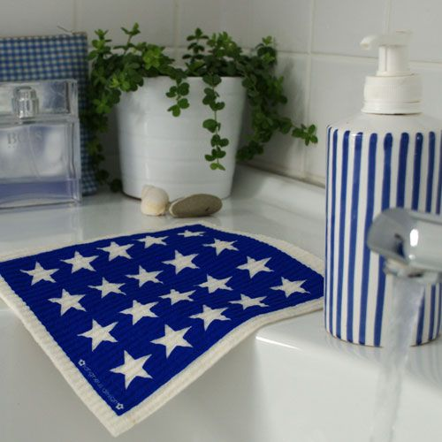 Jangneus Jangneus Dishcloth Blue Cats