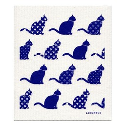 Jangneus Jangneus Dishcloth Blue Cats