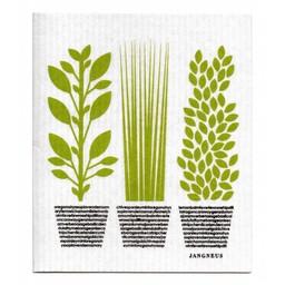 Jangneus Bio vaatdoek * Groene kruiden