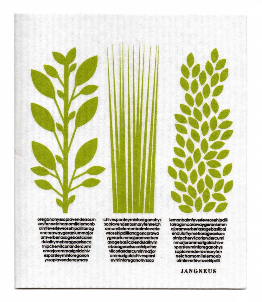 Jangneus Biologische vaatdoek Groene kruiden
