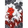 lush designs Tea towel Devils