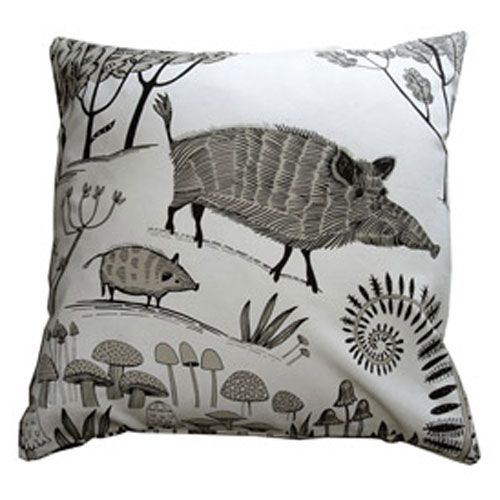 lush designs Cushion Cover Wild Boar