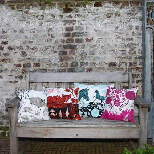 lush designs Cushion Cover Horse