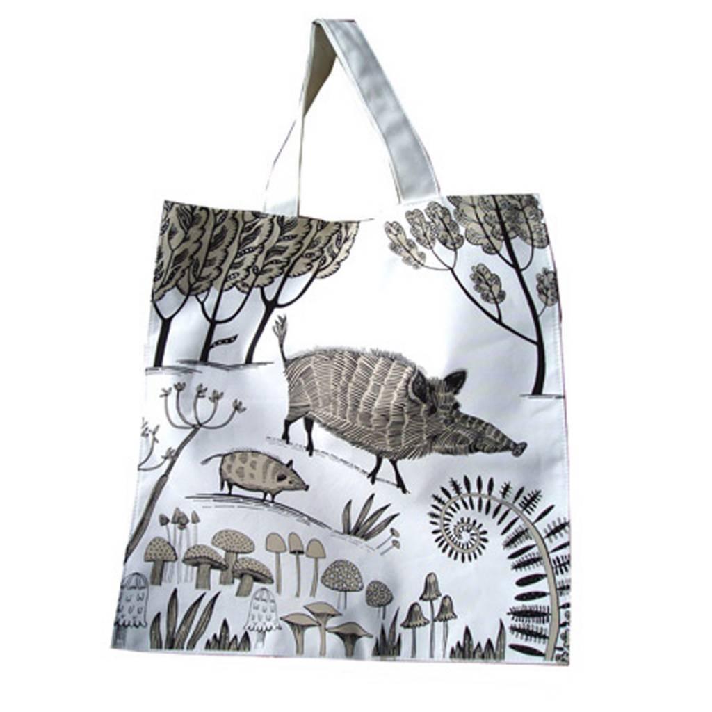 lush designs Canvas Bag Wild Boar