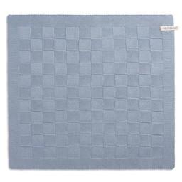 Knit Factory Gebreide Droogdoeken * Blok Uni licht grijs