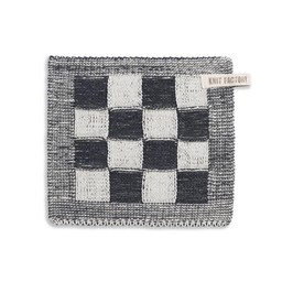 Knit Factory Knitted Pot Holder * Blok Antraciet