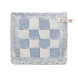 Knit Factory Knitted Pot holder * Blok Light grey