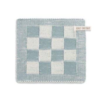 Knit Factory Gebreide Pannenlap Blok Taupe