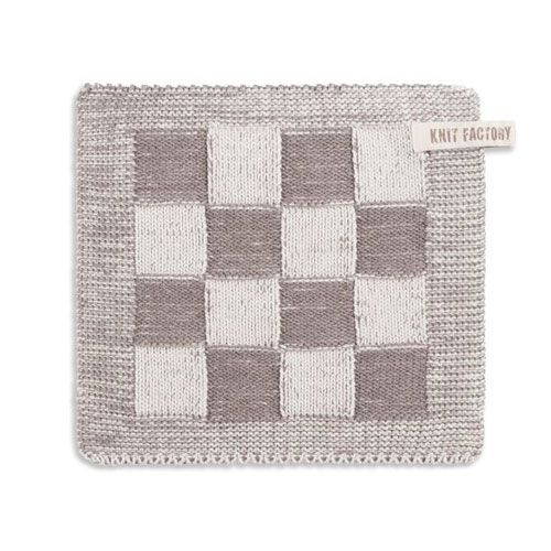 Knit Factory Knitted Potholder Blok Taupe