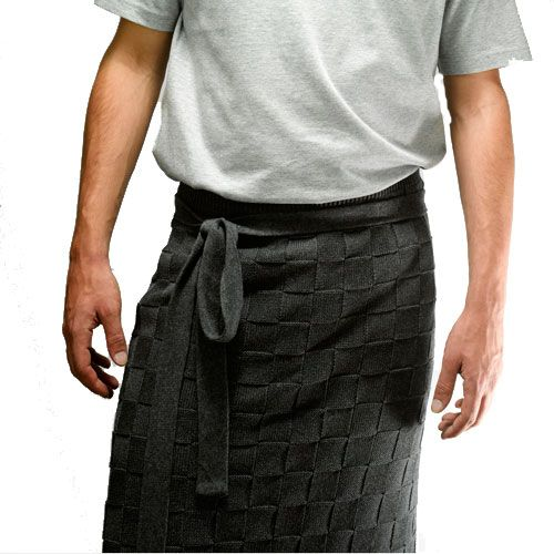 Knit Factory Knitted Half Apron Block Uni Anthracite