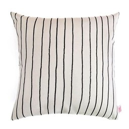 Skinny laMInx Cushion Cover Simple Stripe Steel Liquorice