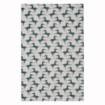 Skinny laMInx Theedoek Paarden – watergroen
