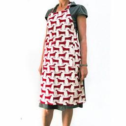 Skinny laMInx Apron Herds - red