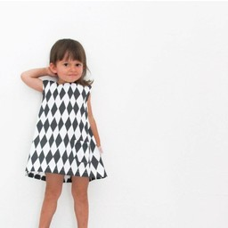 Skinny laMInx Mini dress Diamond black (2-3 year)