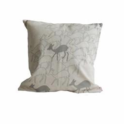 Skinny laMinx Cushion Cover Deer smokey grey