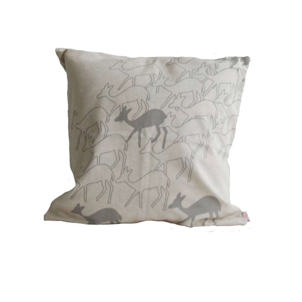 Skinny laMinx Cushion Cover Deer smokey grey