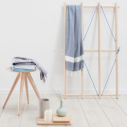 Hammam34 Hamam towel Lime tree - navy